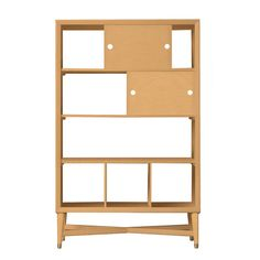 Mid-Century Natural Bookcase   Now on SALE