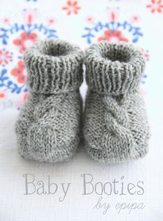 I have to try these knit baby booties!