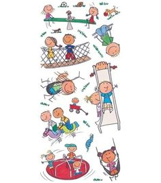 Mambi PARK KIDS Playground Big Scrapbook Stickers