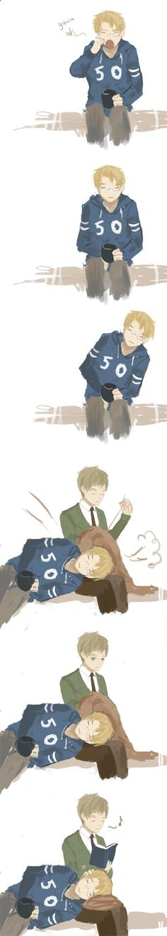 Hetalia - America / England Me no see a shipping<<<<< I AGREE THEY SHOULD JUST HAVE A FLUFFY FAMILIAL RELATIONSHIP