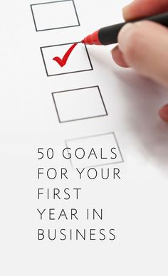 A list of 50 goals for a wedding photographer to complete in their first year in business