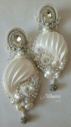 ' Traditions in Japan ' shibori silk earrings designed by Mhoara Jewels