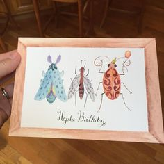 OMG!  These cards turned out so extremely cute!  Kudos to @whccpro for the excellent printing. A few more designs to print up and I am Etsy bound! #watercolor #watercolour #watercolor_art #artprint #bugs #happybirthday #cards