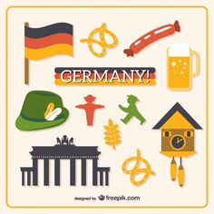 Germany graphic elements