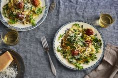 Tender Turkey Meatballs and Orzo with Whole-Lemon Vinaigrette recipe on Food52