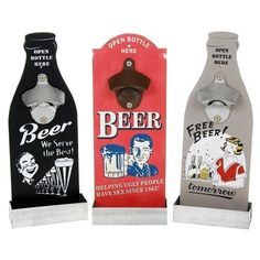 Retro Headlines Style  Beer Bottle Opener MDF  Plaque Novelty Gift Fathers Day