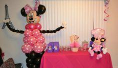Minnie Mouse de Globos Diseño 003