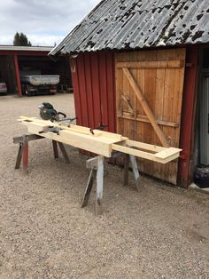 Homemade Miter Saw table with extension wings (2)
