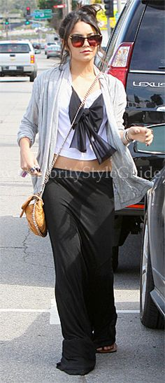 Vanessa Hudgens eats at Studio Cafe before stopping by Studio City Tattoo to meet up with her family March 24, 2011