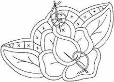 rose embroidery pattern - Google meklēšana