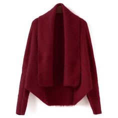 Batwing Sleeve Convertible Cape Cardigan ($18) ❤ liked on Polyvore featuring tops and cardigans