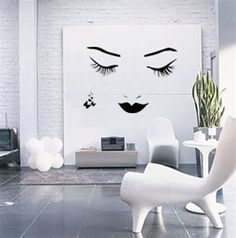 Wall Decals - Great Idea for a loft