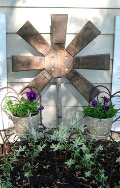 From broken barrel to rustic flower, by mycreativedays.porch.com featured on Funky Junk Interiors