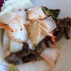 Korean Beef (Bulgogi) taco at Tacopocalypse. Excellent spicy mayo and housemade kimchi. Who needs salsa?