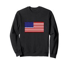 Amazon.com: USA American Flag Stars & Stripes Sweatshirt: Clothing Christmas Store, Christmas Shopping, American Flag Stars, Usa Flag, Graphic Sweatshirt, T Shirt, Types Of Shirts, Fashion Brands, Stripes