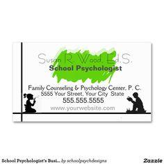 School Psychologist's Business Card by schoolpsychdesigns of Zazzle.com