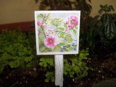 Miiniature Fairy Garden Foral Sign by FairiesAndFireflys on Etsy, $4.00
