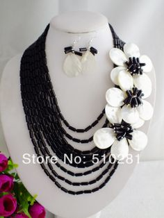 NEW FASHION DESIGN!!! ELEGANT Wrap FLOWER NECKLACE JEWELRY SET LK-891 $75.61