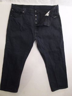Levi Strauss & Co. 501 Button Fly Men's Dark Jeans SZ. 46X32 Measures 44X30 #980 #LeviStraussCo #ButtonFly