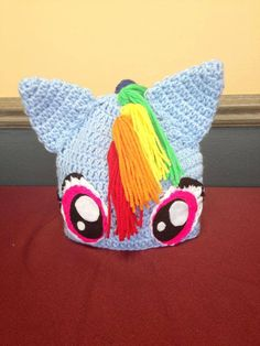 OH @Wendy Felts Ross Kayleigh wants this. lol  My Little Pony: Rainbow Dash Hat