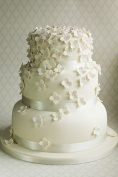2017 Modern 3D Floral Wedding Cake.