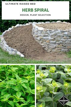 to Build an Herb Spiral Build the ultimate raised garden bed. Don't miss these herb spiral construction tips, including how to plant one.Build the ultimate raised garden bed. Don't miss these herb spiral construction tips, including how to plant one. Herb Spiral, Spiral Garden, Raised Vegetable Gardens, Raised Garden Beds, Raised Bed, Small Herb Gardens, Vegetable Gardening, Landscaping Supplies, Backyard Landscaping