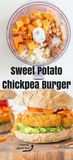 Amazing 10-ingredient Sweet Potato Chickpea Burger - satisfying, healthy, and off-the-charts delicious. Vegan + gluten-free!