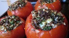 Sundried tomato and Quinoa Stuffed Tomatoes #vegan #glutenfree #soyfree
