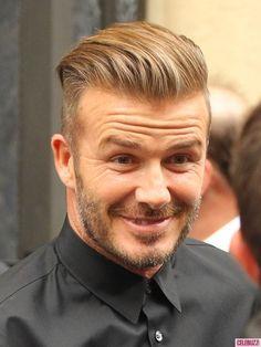 David Beckham Tattoos, David Beckham Haircut, David Beckham Style, My Hairstyle, Cool Hairstyles, Slick Back Haircut, Hair And Beard Styles, Long Hair Styles, Men With Grey Hair