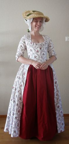The Shadow of My Hand: Floral robe à l'Anglaise (and new shoes!)