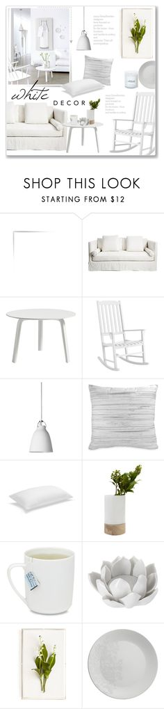 """""""Pure White Decor"""" by alexandrazeres ❤ liked on Polyvore featuring interior, interiors, interior design, home, home decor, interior decorating, HAY, Pier 1 Imports, Lightyears and DKNY"""