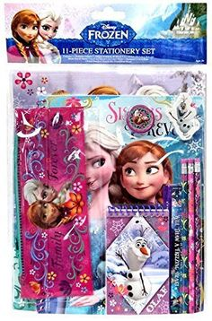This 11 piece Disney Frozen stationery set has everything that your little Frozen princess will need for kindergarten or elementary school. Pop it into any Disney Frozen backpack and they'll be all. Little Girl Toys, Baby Girl Toys, Toys For Girls, Princess Toys, Disney Princess Art, Frozen Princess, Frozen Elsa And Anna, Elsa Anna, Elsa Olaf