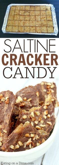 This Saltine Cracker candy is easy to make and sometimes called Christmas crack. Saltine Cracker toffee is a favorite and is perfect for the holidays.