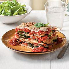 Fresh Vegetable Lasagna via SouthernLiving.com #MeatlessMonday