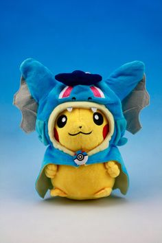 Pikachu Plush with Gyarados Clothing Doll by PureTutuSecretGarden