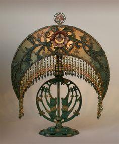 Beautiful and unique art nouveau lamp