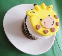 Giraffe Fondant Cupcake Topper