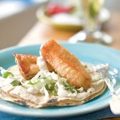 Beer-Battered Salmon Tacos with Chipotle Crema - 13 Tasty Fish Taco Recipes - Coastal Living