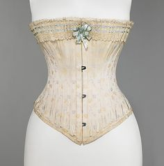 Corset. Attributed to Royal Worcester Corset Company (American, 1864–1950). American, ca. 1890. The Metropolitan Museum of Art, New York. Brooklyn Museum Costume Collection at The Metropolitan Museum of Art, Gift of the Brooklyn Museum, 2009; Gift of E.A. Meister, 1950 (2009.300.3115a–c)