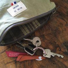 ÉLÉONORE, la pochette en coton recyclé vert tilleul - Reine de Bohème