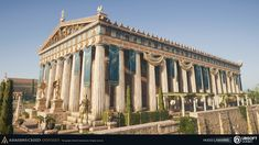 The Parthenon located on the Athenian Acropolis, dedicated to the goddess Athena. Construction began in Greece Architecture, Roman Architecture, Architecture Sketchbook, Architecture Quotes, Architecture Tattoo, Victorian Architecture, Architecture Portfolio, Sustainable Architecture, House Architecture