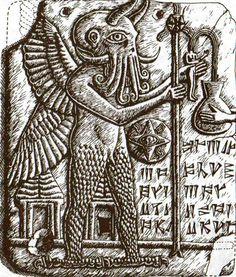 Early hieroglyph of Cthulhu