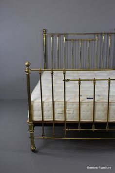 New stock: Antique Victorian... Visit http://kernowfurniture.co.uk/products/antique-victorian-brass-bed-frame-mattress?utm_campaign=social_autopilot&utm_source=pin&utm_medium=pin National delivery #antique #vintage #retro #cornwall #interiors #london