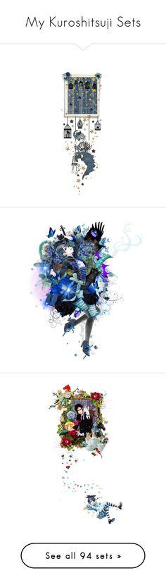 """My Kuroshitsuji Sets"" by girlinthebigbox ❤ liked on Polyvore featuring anime, BlackButler, Kuroshitsuji, moodboards, yanatoboso, art, CielPhantomhive, sultry, grellysutcliff and cantwait"