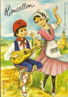 ROUSSILLON, BAILE TÍPICO - EDITIONS LYNA 177/4 - SIN CIRCULAR (Postales - Dibujos y Caricaturas)