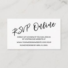 Wedding RSVP Online Casual Handwriting Insert Card Wedding Envelopes, Simple Wedding Invitations, Wedding Rsvp, Wedding Invitation Cards, Zazzle Invitations, Bridal Shower Invitations, Wedding Cards, Invites, Dream Wedding