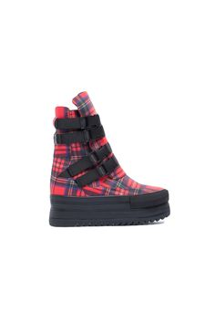Lana - Tartan Red by Black Milk Clothing x Solestruck