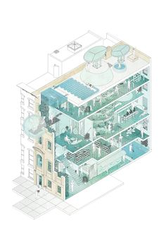 Climatic Oasis Fabian Franciszkiewicz Project Climate change has transformed New York City into a desert. Vegetation is withering and the air is increasingly becoming worse. The populati… Architecture Presentation Board, Architecture Board, Architecture Graphics, Architecture Visualization, Architecture Student, Architecture Drawings, Architecture Design, Architecture Illustrations, Architecture Diagrams