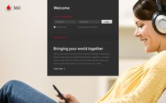Vodafone 360 Service by Andy Gugel, via Behance
