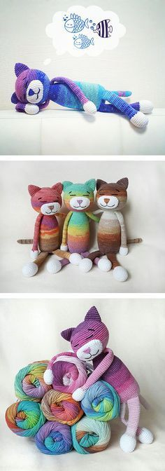 Large ami cats - free pattern